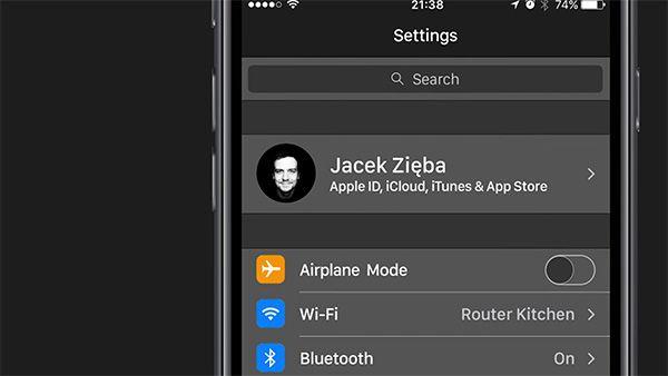 iOS 11 concepto Modo Oscuro