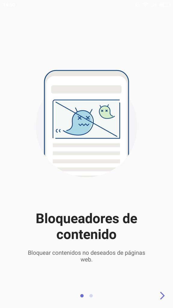 Bloqueadores de contenido de Samsung Browser