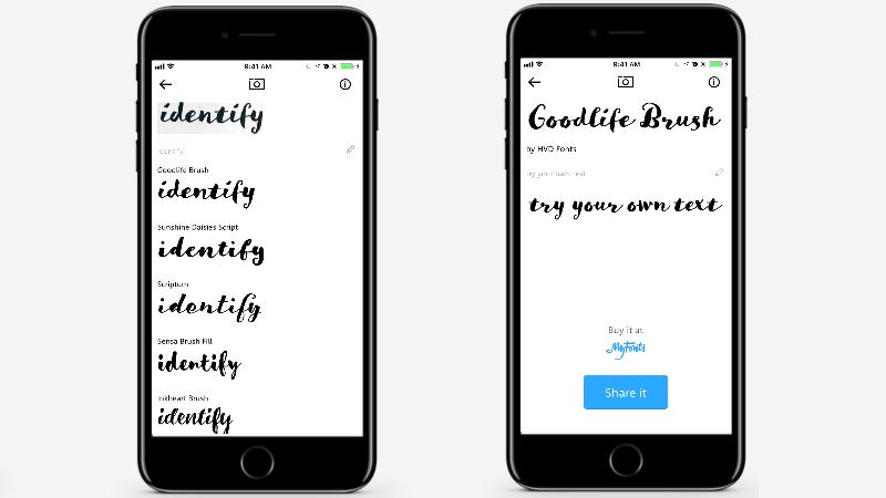 WhatTheFont app móvil