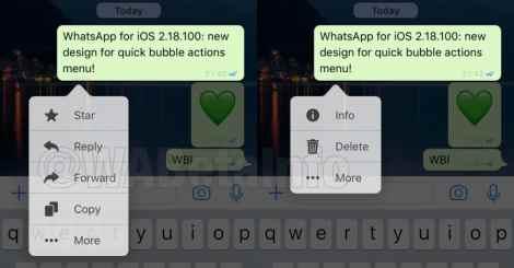WhatsApp quick actions