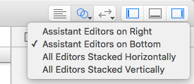 Just clicking this button shows or hides the second editor pane