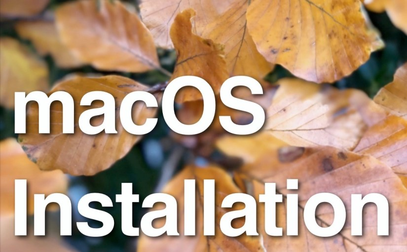 Book update: macOS Installation v5