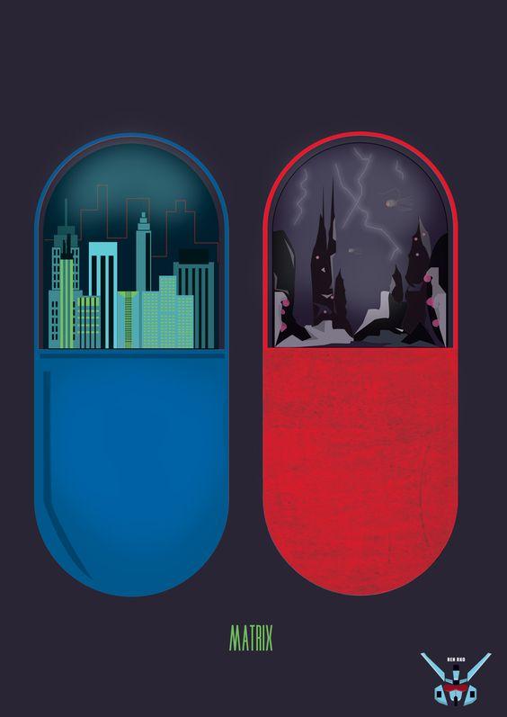 Fanart das pílulas de Matrix.