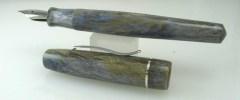 Master Scrivener in Moonlit Forest alumilite, Sterling Silver Cap Band - 4