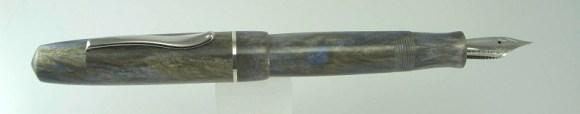 Master Scrivener in Moonlit Forest alumilite, Sterling Silver Cap Band - 8