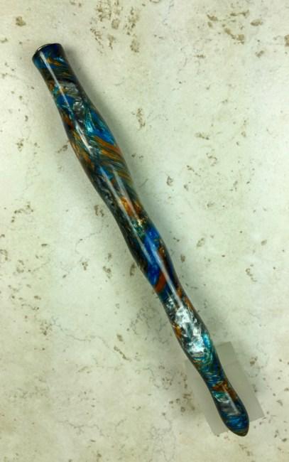 Custom Wavy Dip Pen in Mineral Sea