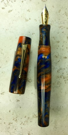 Scribe in Bronco Sunset/Ocean's Fire Lava Lamp #57 - Oversized