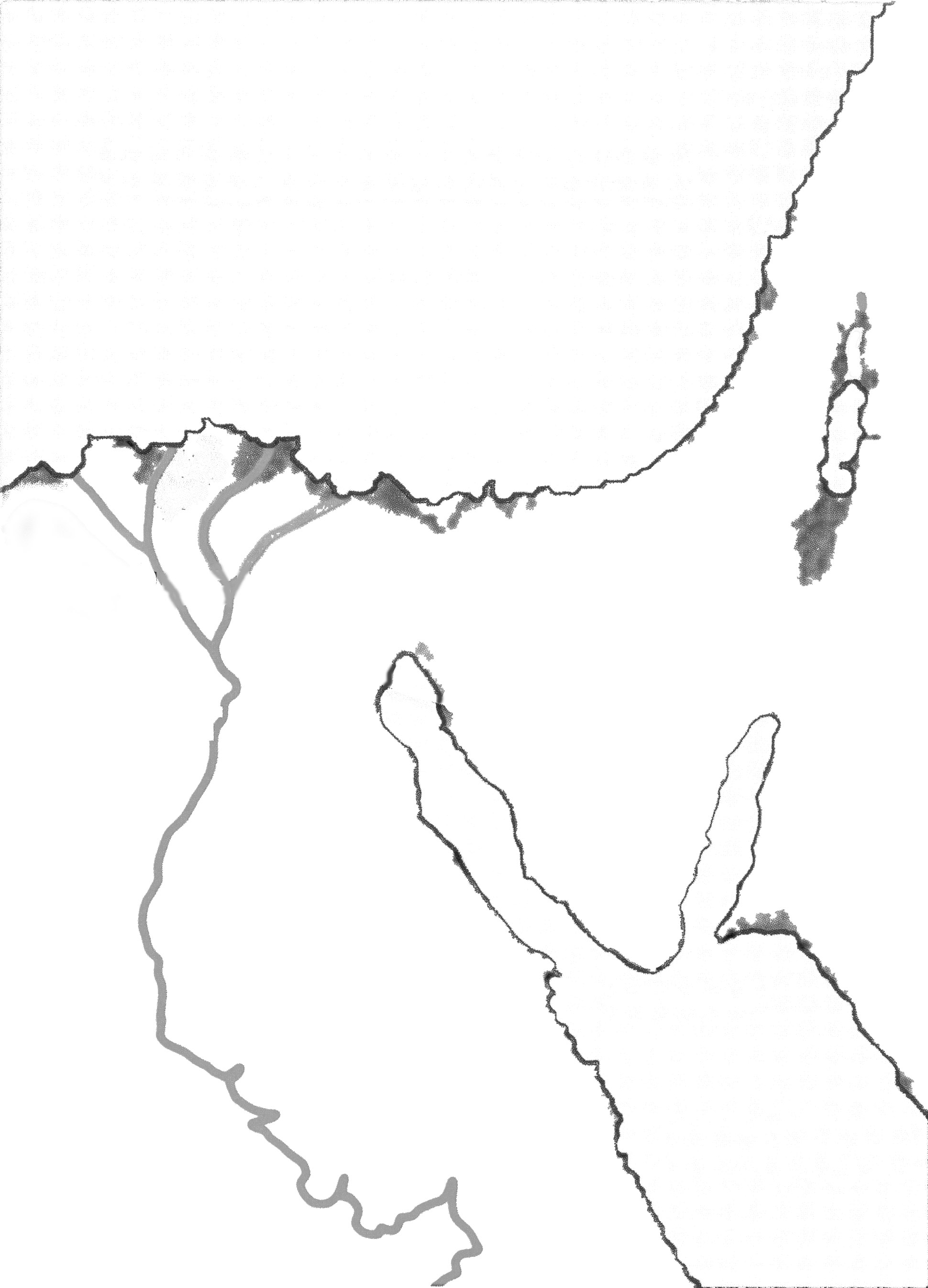 Ancient Egypt Blank Map