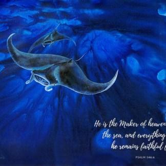 Faithful Forever [Art Print Ps 146:6 ]