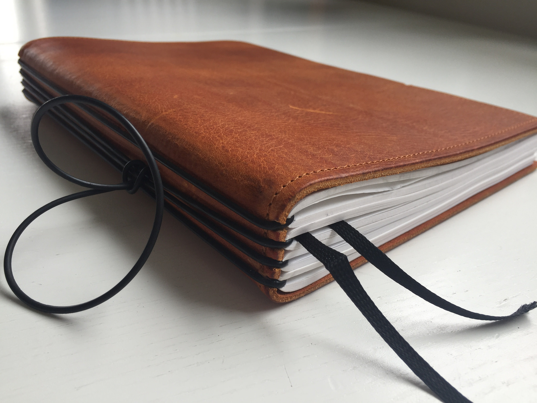 X17 A5 leather notebook