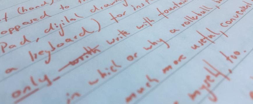 writing_orange ink