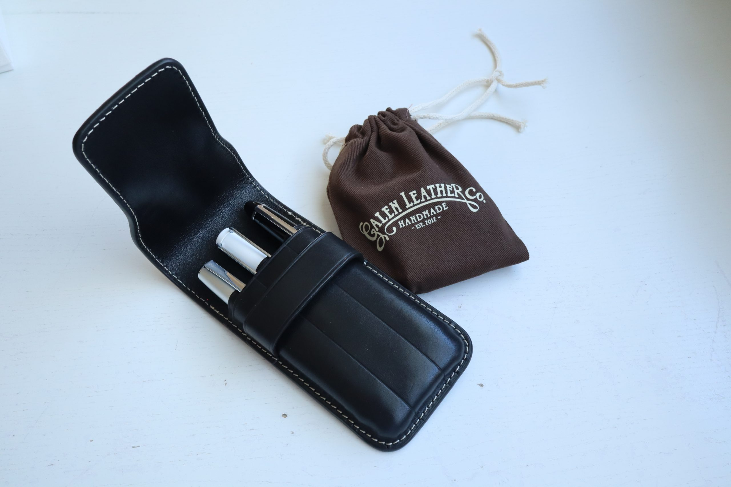 Galen Leather Flap Pen Case
