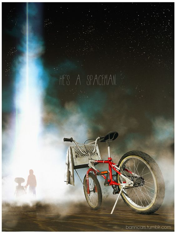 POSTERS OF FAMOUS CARS AND VEHICLES IN TV, MOVIES AND VIDEOGAMES via BannCars | E.T.: