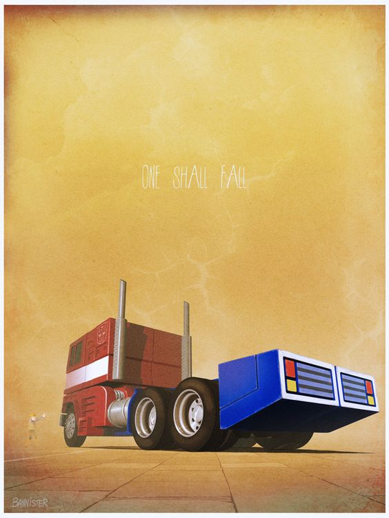 POSTERS OF FAMOUS CARS AND VEHICLES IN TV, MOVIES AND VIDEOGAMES via BannCars | Transformers.: