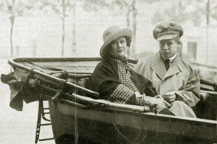 სერგეი ესენინი და აისედორა დუნკანი ნიცაში - 1922 წელი