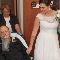 Wedding in hospital chapel brings family together
