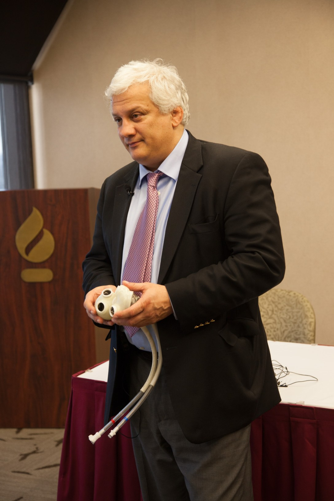 Themistokles Chamogeorgakis, MD, with total artificial heart