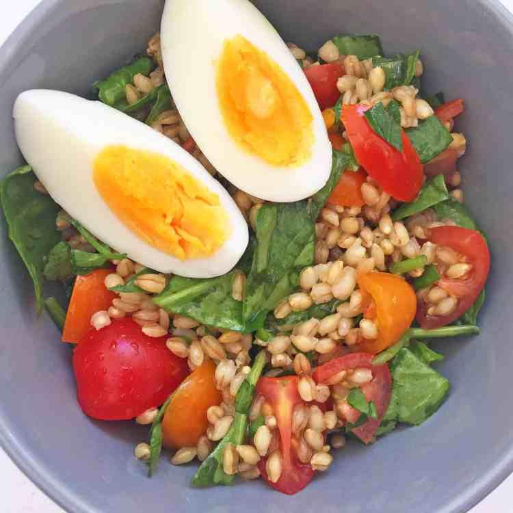 Pearl barley salad 8.1