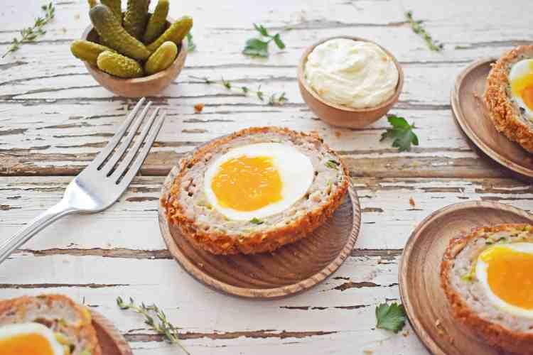 Crispy Scotch Eggs with Runny Yolk