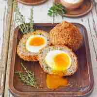 Crispy Scotch Eggs with Runny Yolk