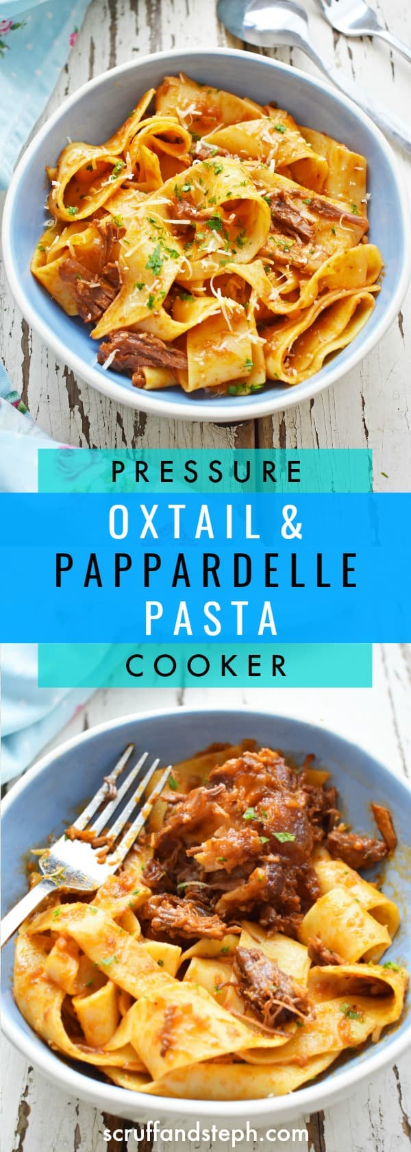 Pressure Cooker Oxtail in Tomato Sauce and Pappardelle Pasta
