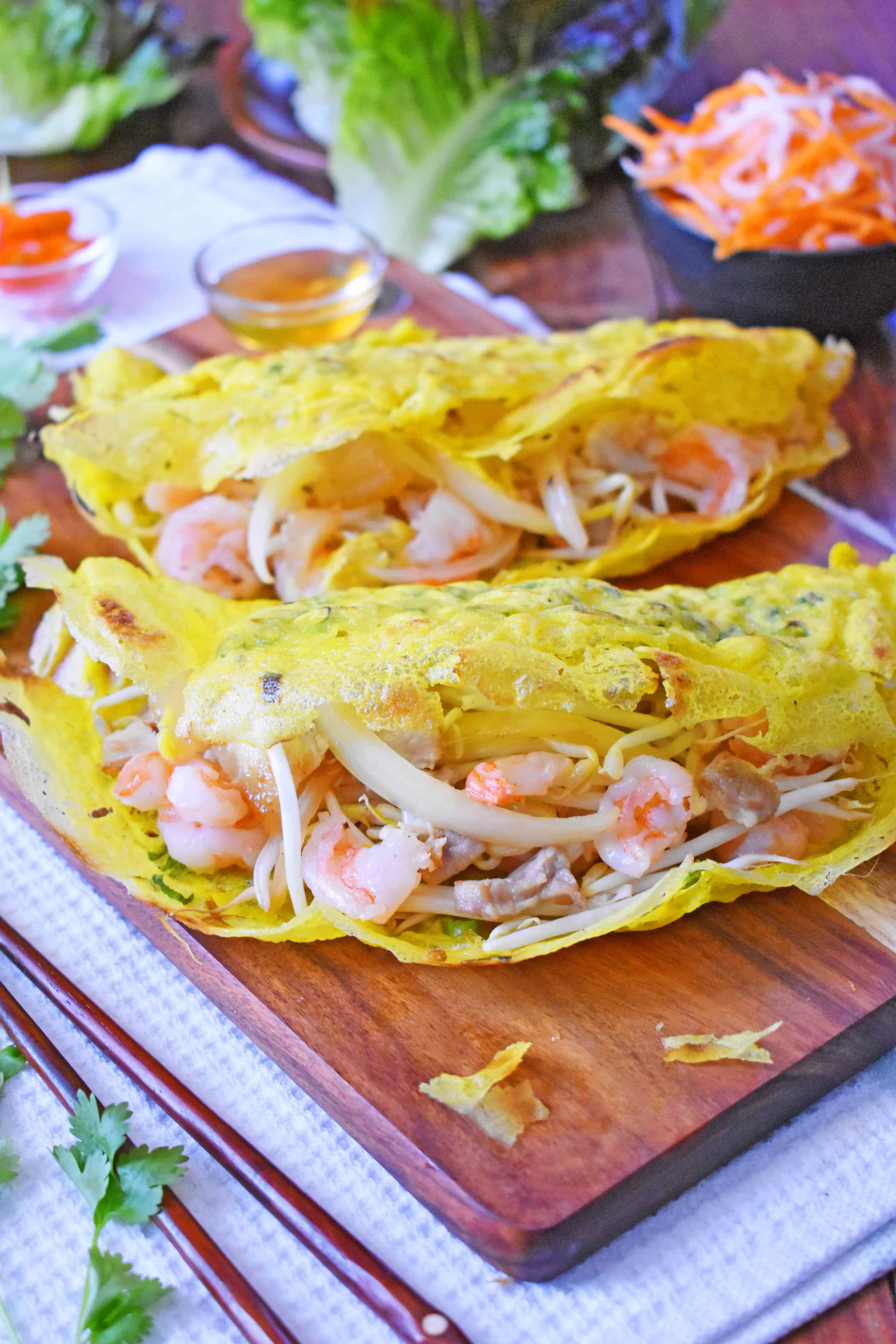 Vietnamese Crispy Crepes Banh Xeo Scruff Steph