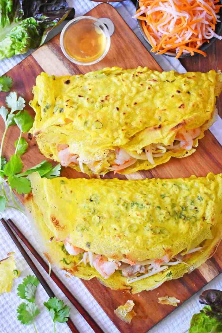Vietnamese Crispy Crepes - Banh Xeo