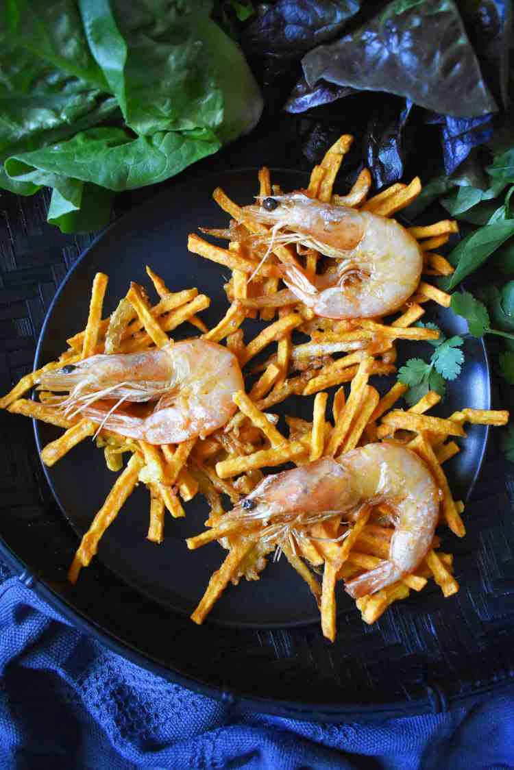 Vietnamese Prawn and Sweet Potato Fritters - Banh Tom