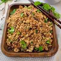 Tofu and Mushroom Mince