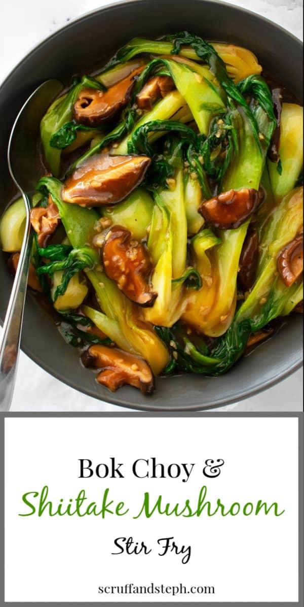 Bok Choy and Shiitake Mushroom Stir Fry