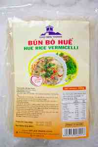 A packet of bun bo hue rice vermicelli noodles