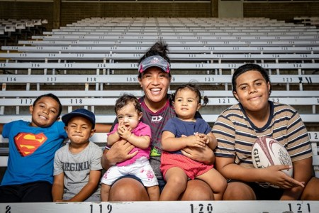Red's super mom Hilisha Samoa
