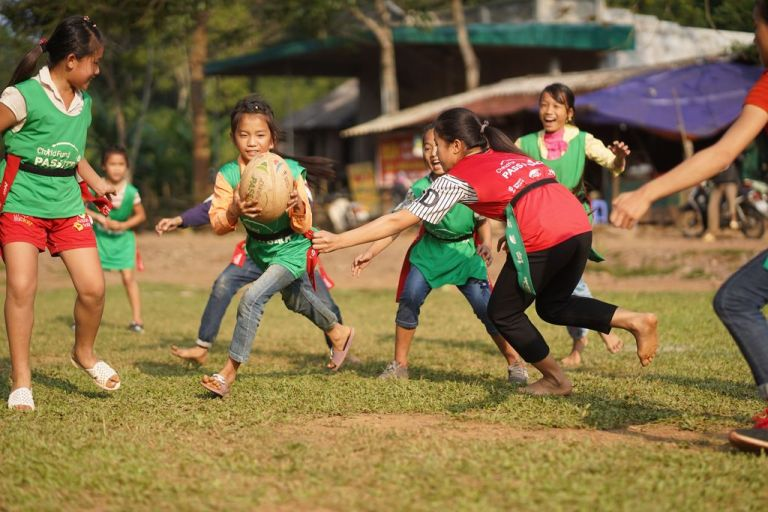 Vietnamese's Mai is a 13-year-old rugby player whose life was transformed by her introduction to rugby through the Vietnamese ChildFund-supported program working with community clubs