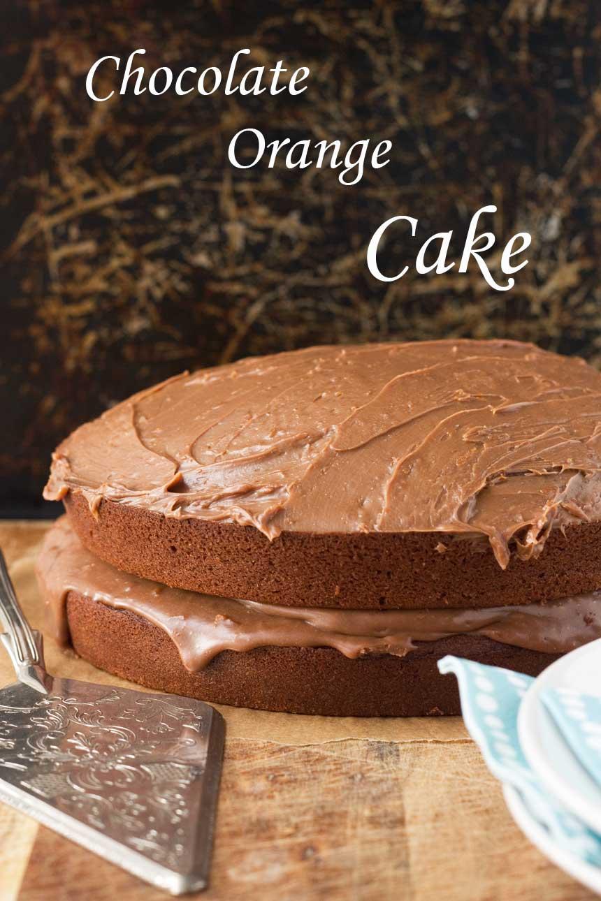 Chocolate orange cake (really good, really simple ...