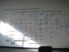 User Stories on a Story Board