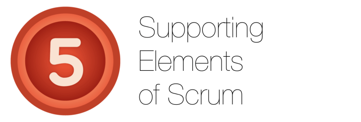 Five supporting elements of scrum