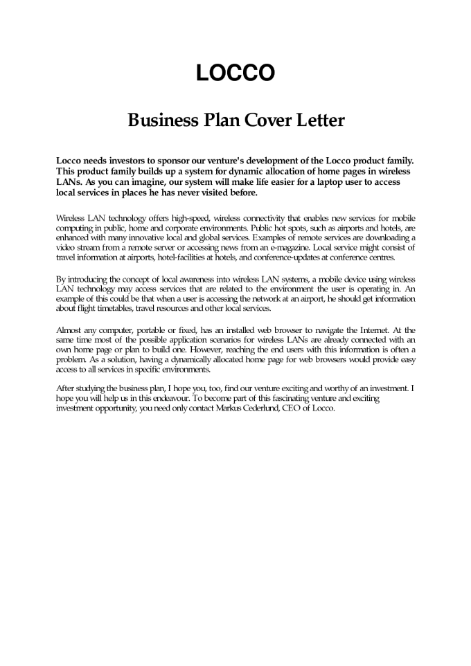 Sample Business Cover Letter Proposal Save Template