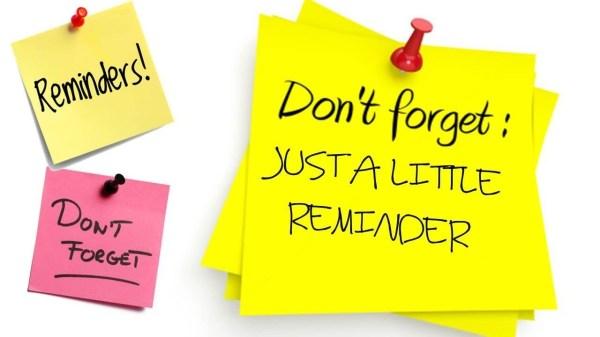 Just A Reminder Note   scrumps