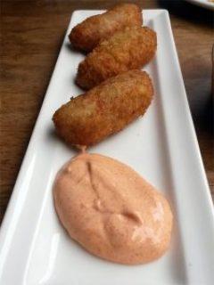 Jamon croquetas and pimenton mayo