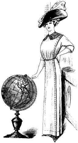 woman with globe montage