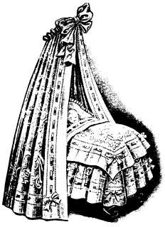 ornate doll's crib