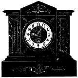 mantelpiece clock showing 9:03