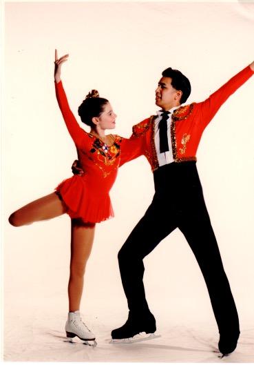 Whitney Gaynor and David Delago 1998 Pacific Coast Junior Pairs Champions