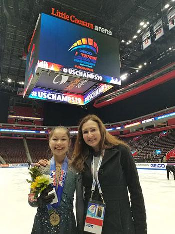 Alysa Liu and her Coach