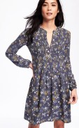 Old Navy Pintuck Floral Dress