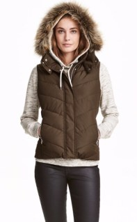 H&M Padded Vest with Fur