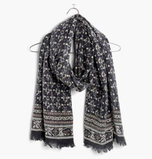 Madewell's abstract floral border scarf