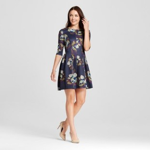 Target's watercolor fit & flare dress