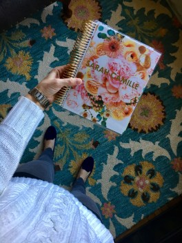 "My pretty Erin Condren LifePlanner in ""in bloom gold metallic."""
