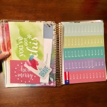 This clear pouch and stickers to the right are included with the LifePlanner.